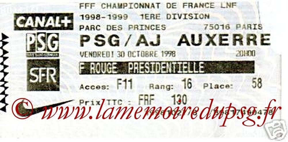 1998-10-30  PSG-Auxerre (11ème D1, Billetel)