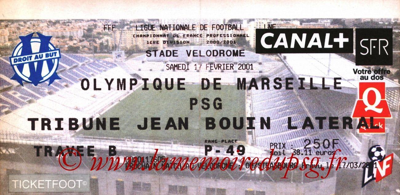 2001-02-17  Marseille-PSG (27ème D1)