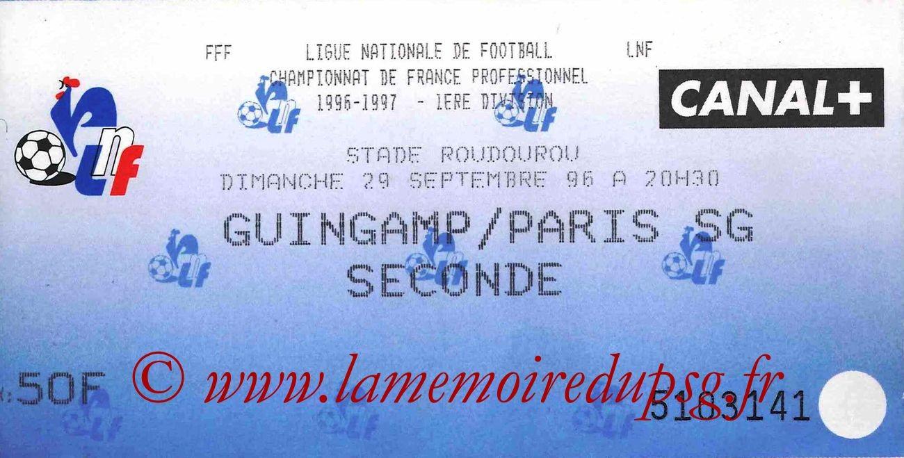 1996-09-29  Guingamp-PSG (9ème D1)