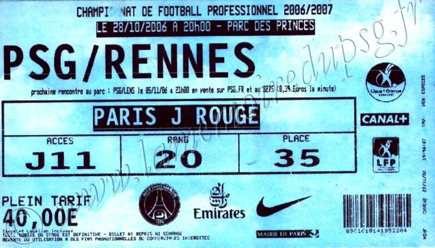2006-10-28  PSG-Rennes (11ème L1, bis)