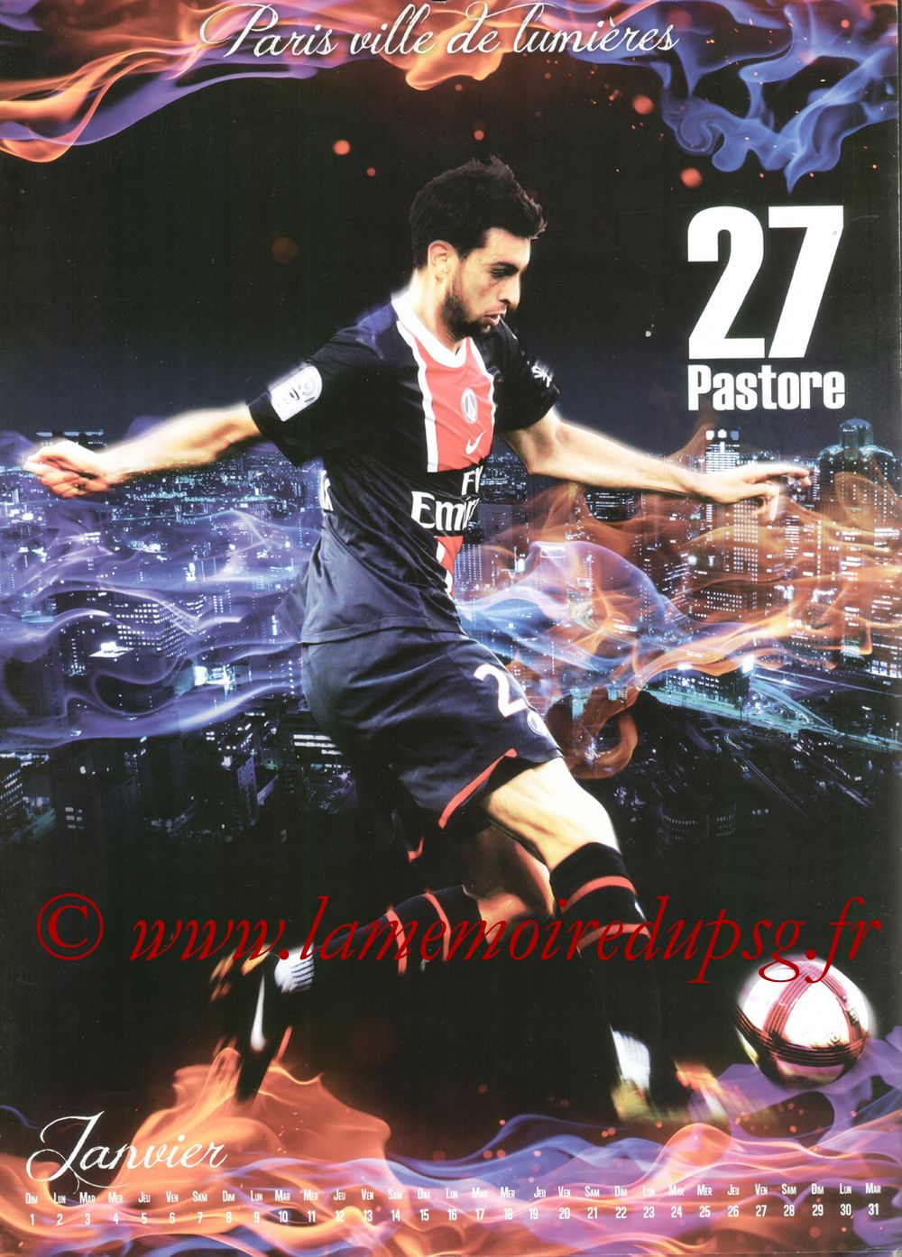 Calendrier PSG 2012bis - Page 01 - Javier PASTORE