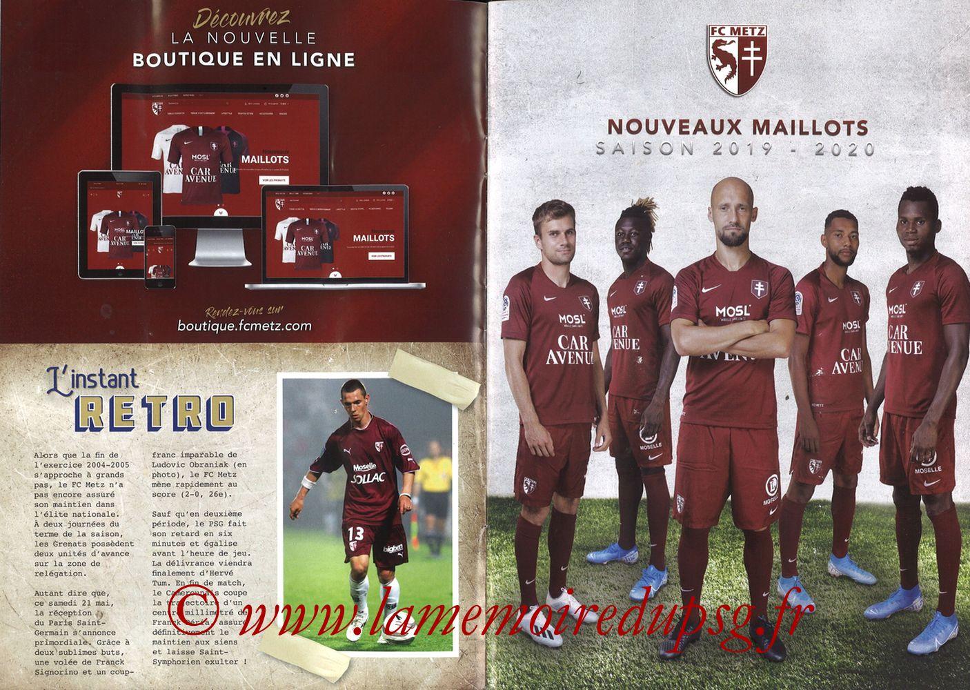 2019-08-30  Metz-PSG (4ème L1, La Gazette de Saint-Symph') - Pages 06 et 07