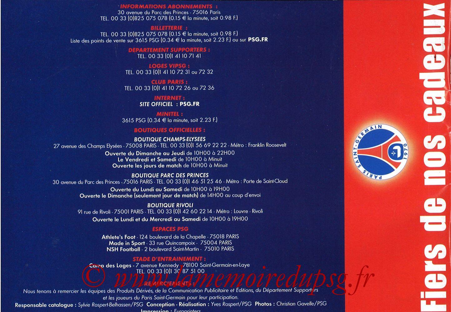 Catalogue PSG - 2001-02 - Noêl - Page 24