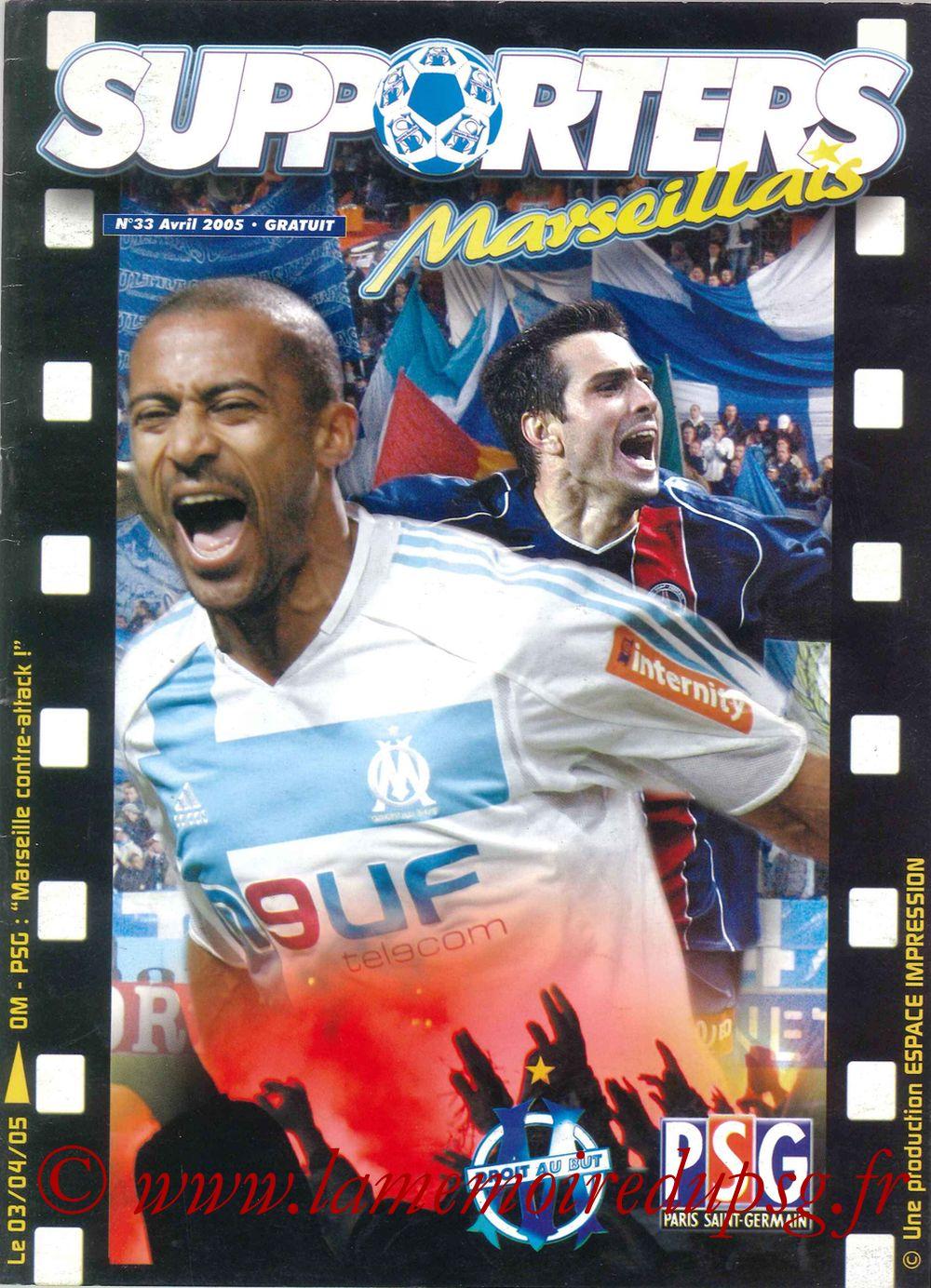 2005-04-03  Marseille-PSG (31ème L1, Supporters Marseillais N°33)