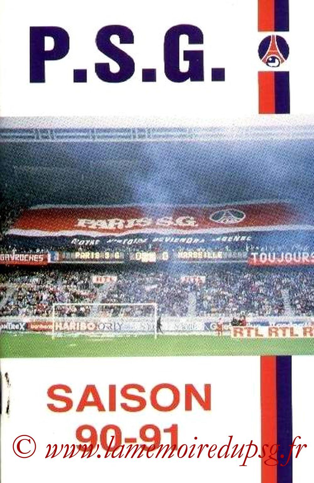 1990-91 - Guide de la Saison PSG
