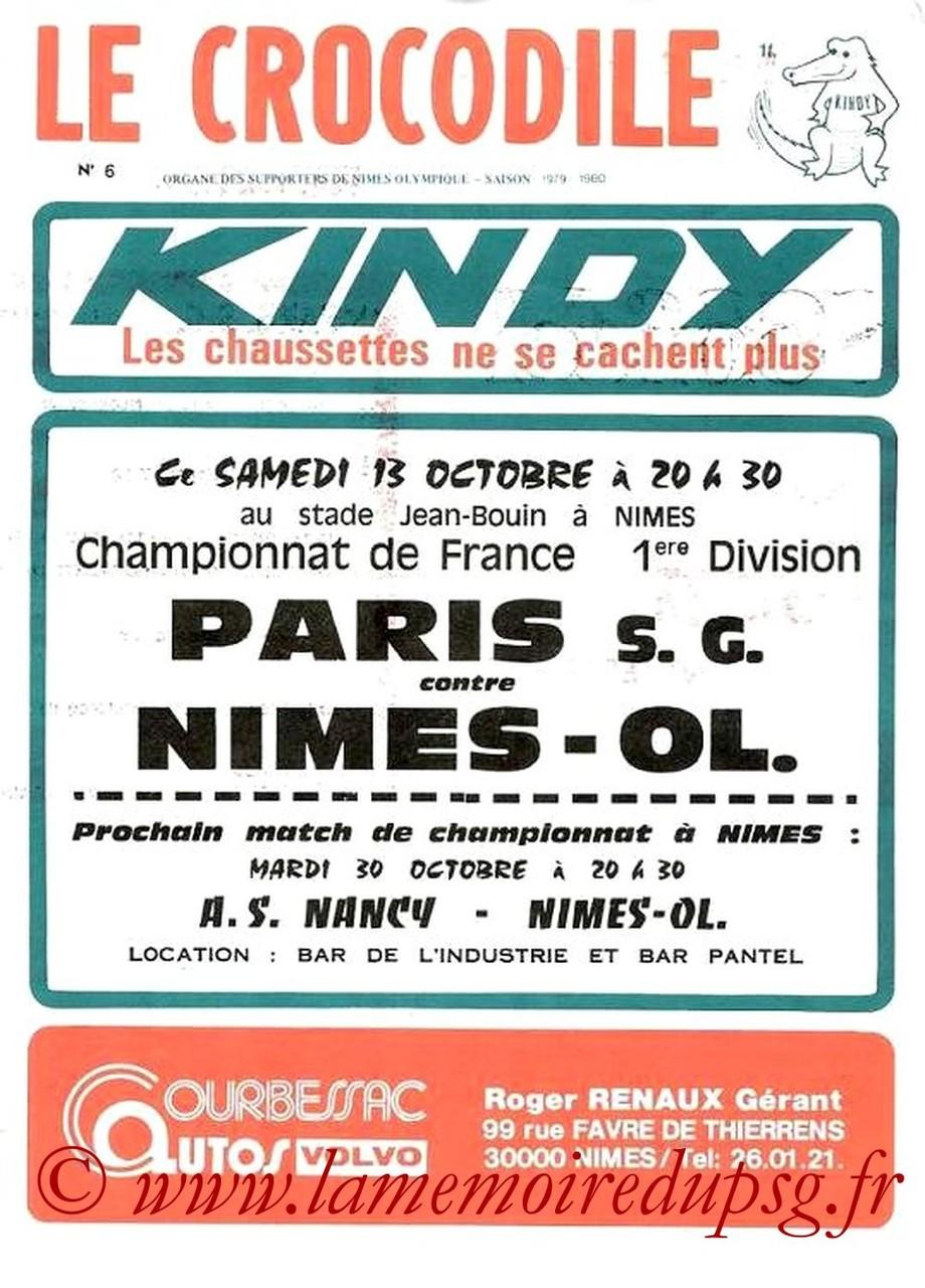 1979-10-13  Nimes-PSG (12ème D1, Le Crocodile N°6)
