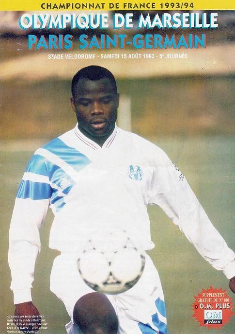 1993-08-15  Marseille-PSG (5ème D1, Supplément OM Plus N°100)