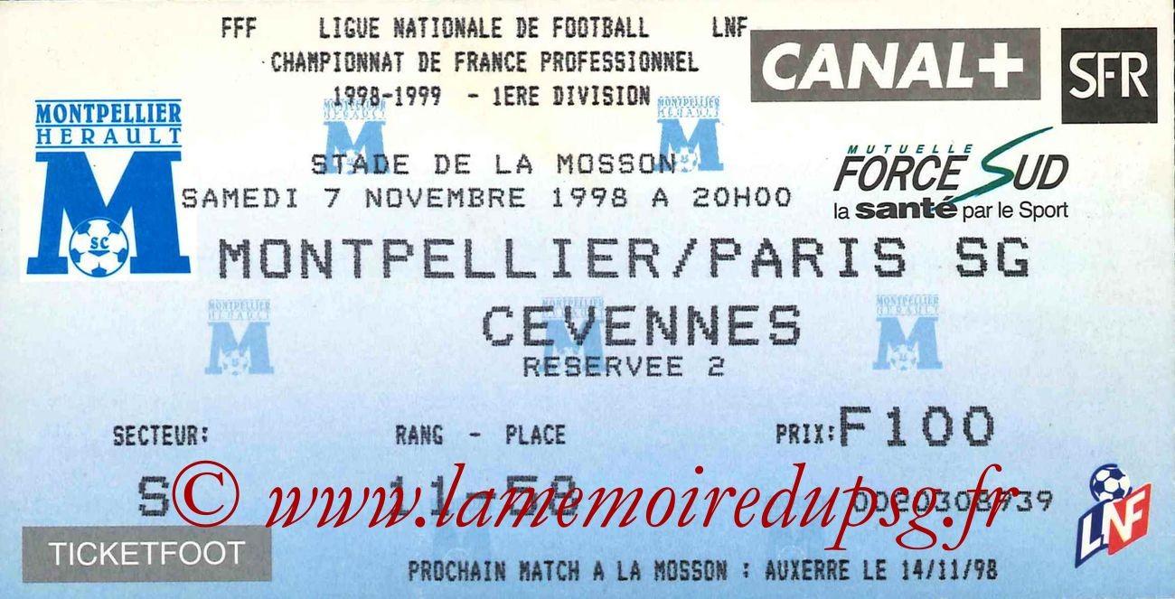 1998-11-07  Montpellier-PSG (12ème D1)