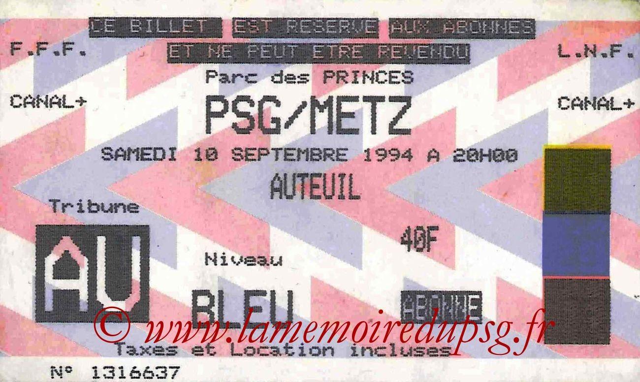 1994-09-10  PSG-Metz (8ème D1)