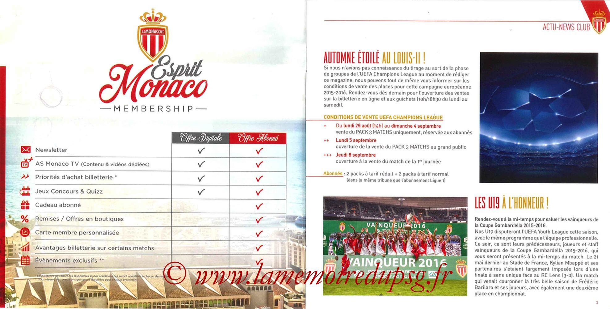 2016-08-28  Monaco-PSG (3ème L1, Programme officiel) - Pages 02 et 03