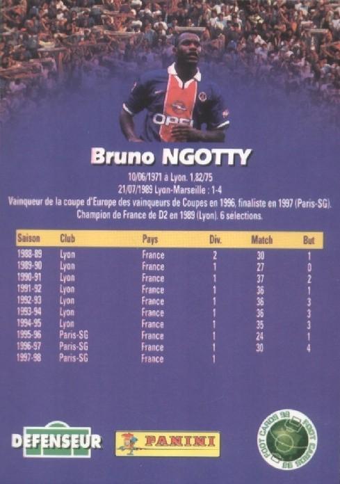 N° 129 - Bruno N'GOTTY (Verso)