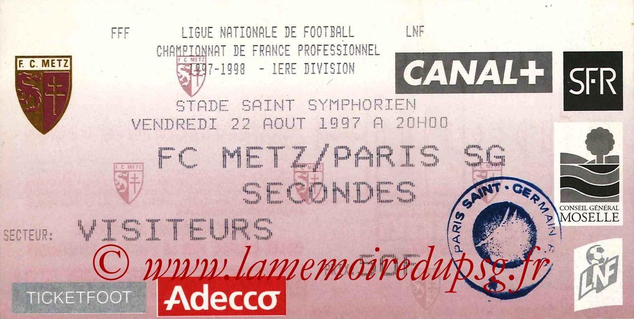 1997-08-22  Metz-PSG (4ème D1)