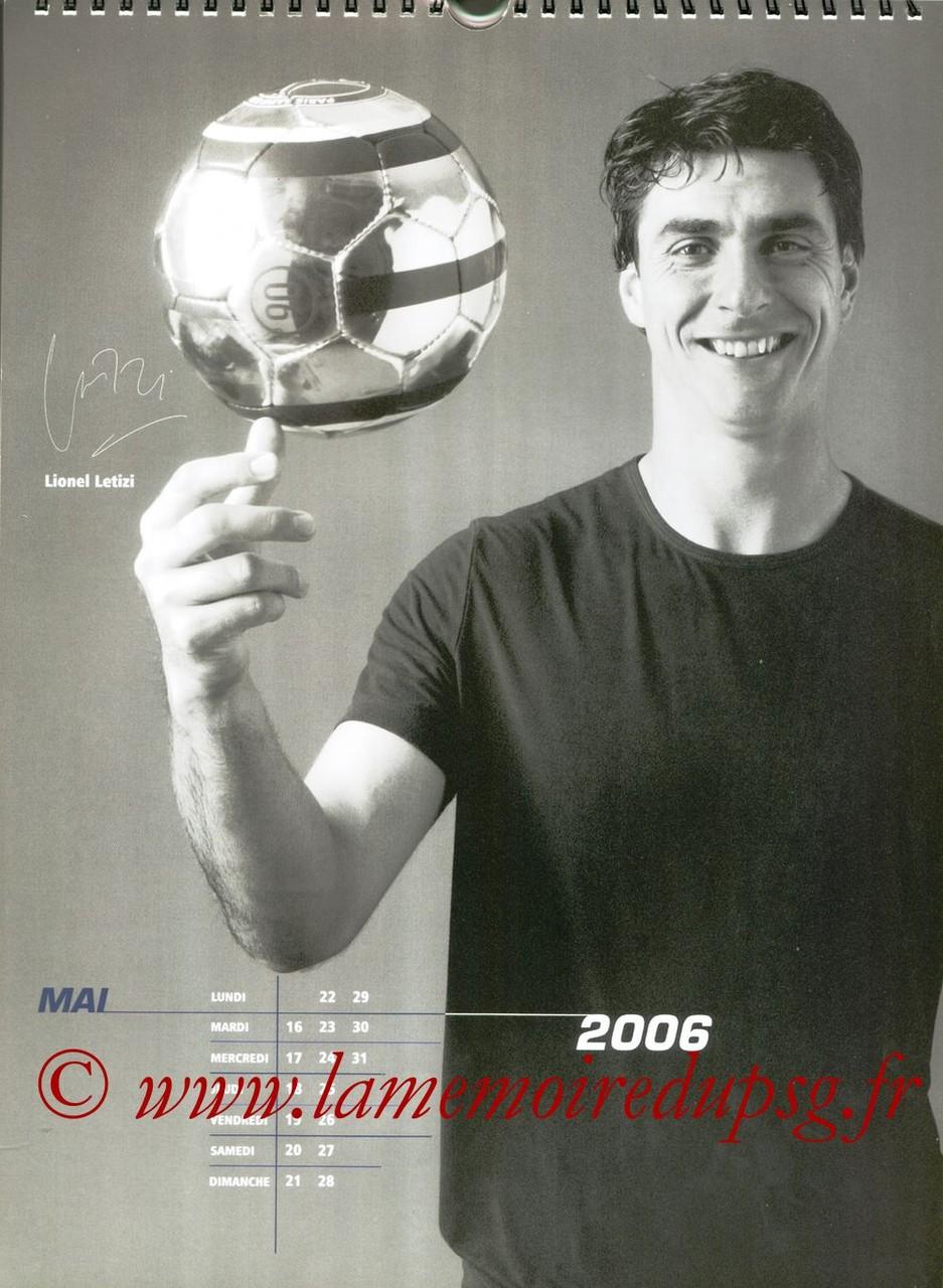 Calendrier PSG 2006 - Page 10 - Lionel LETIZI