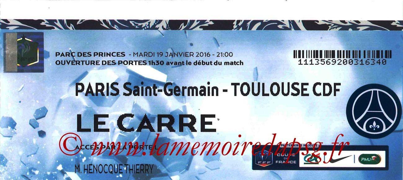 2016-01-19  PSG-Toulouse (16ème CF, Le Carré)