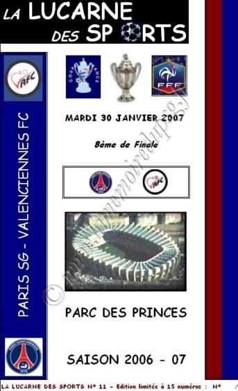 2007-01-30  PSG-Valenciennes (8ème Finale CF, la lucarne des sports N°11)