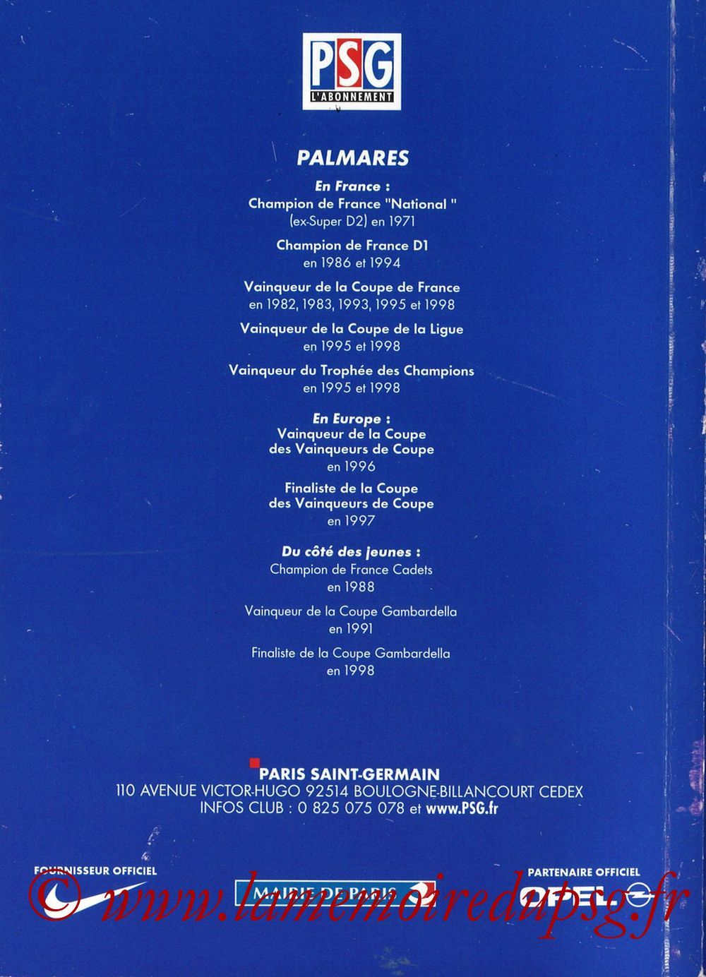 1999-00 - Guide de la Saison PSG - Pages 68