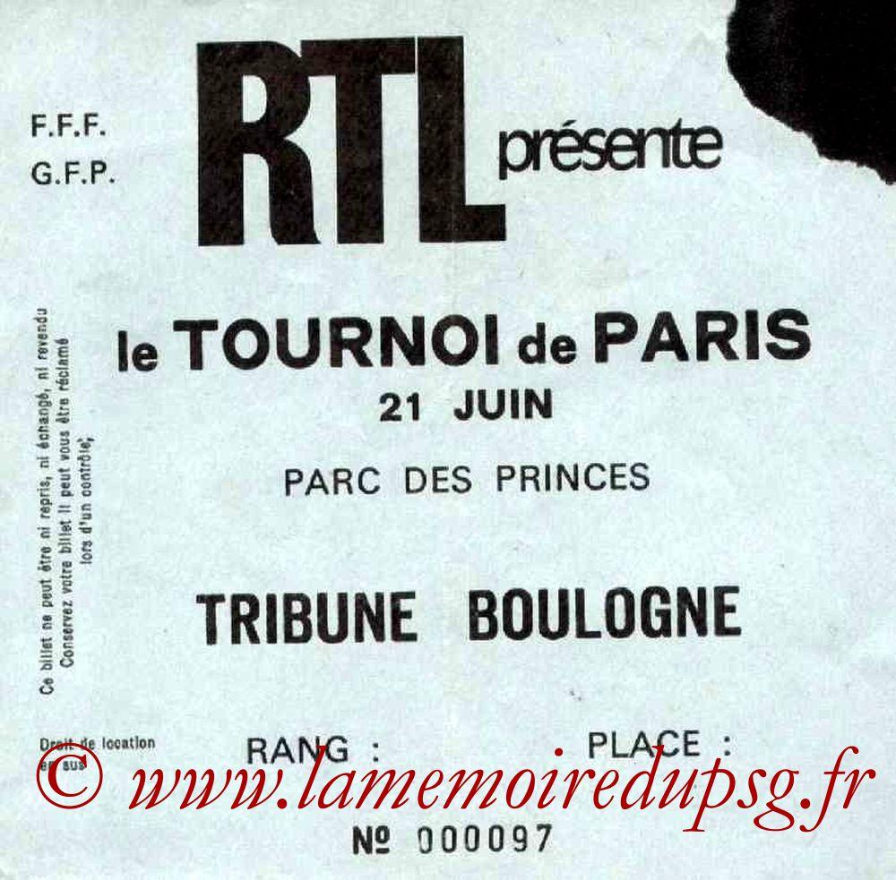 1977-06-21  PSG-Ferenvaros (Demi Finale Tournoi de Paris)