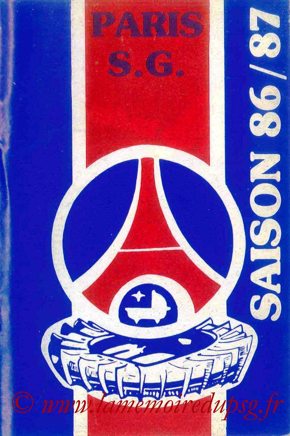1986-87 - Guide de la Saison PSG - Couverture