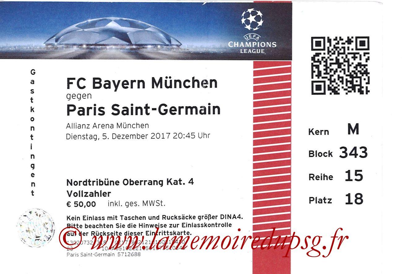 2017-12-05  Bayern-PSG (6ème Poule C1)