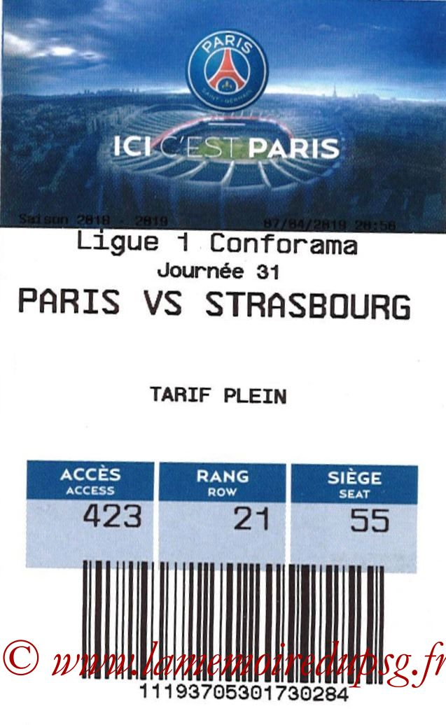 2019-04-07  PSG-Strasbourg (31ème L1, E-ticket)