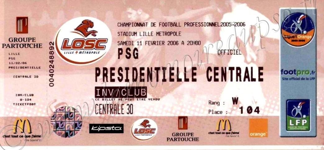 2006-02-12  Lille-PSG (26ème L1)