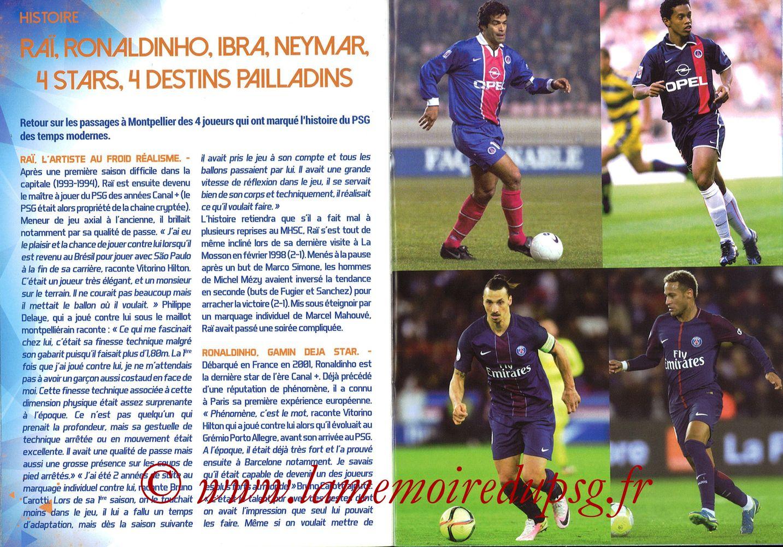 2017-09-23  Montpellier-PSG (7ème L1, L'Echo de la Mosson N°4) - Pages 14 et 15