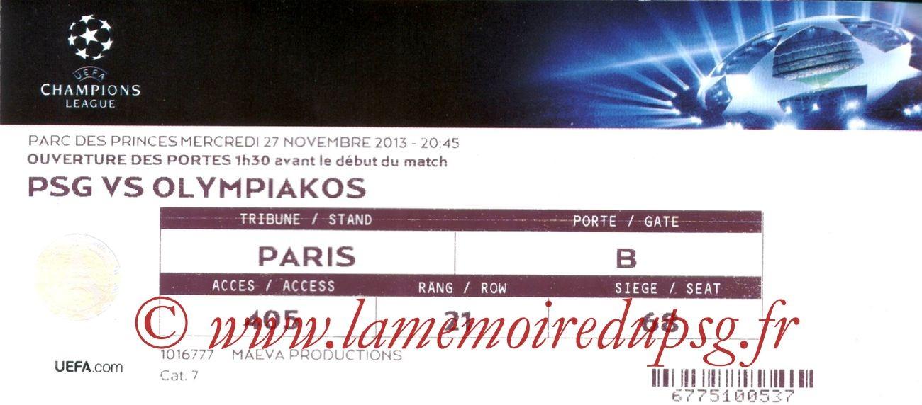 2013-11-27  PSG-Olympiakos (5ème Poule C1)
