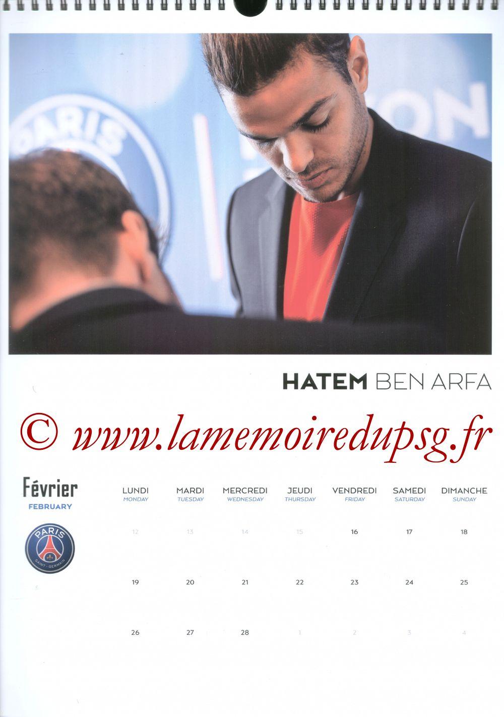 Calendrier PSG 2018 - Page 04 - Hatem BEN ARFA
