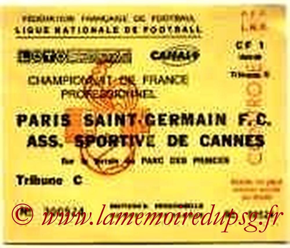 1990-03-17  PSG-Cannes (29ème D1, Invitation)