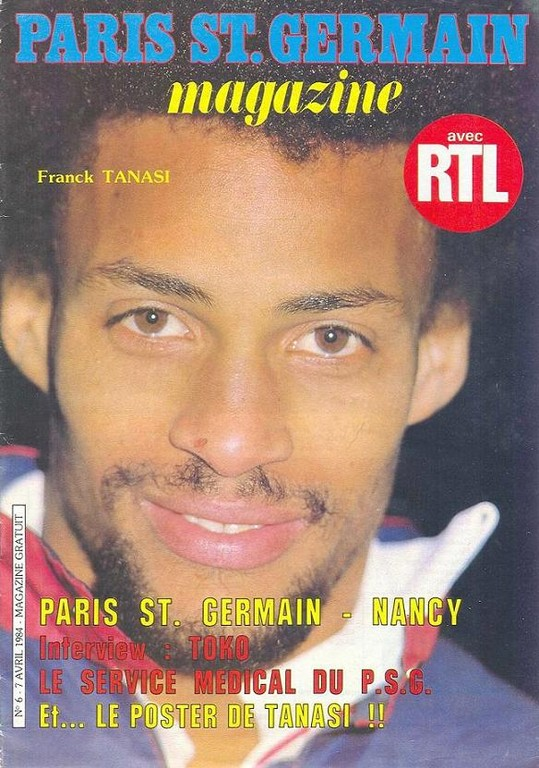 1984-04-07  PSG-Nancy (34ème D1, Paris St Germain Magazine N°6)