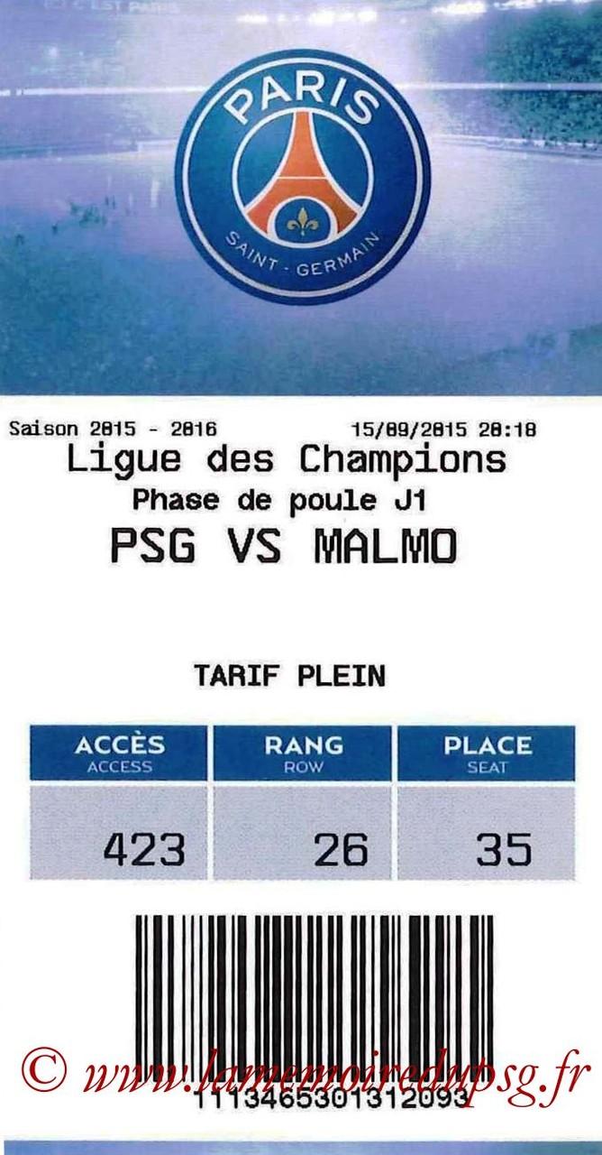 2015-09-15  PSG-Malmo (1ère C1, E-ticket)