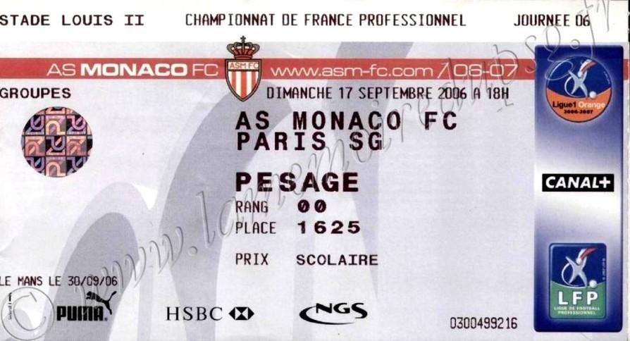 2006-09-17  Monaco-PSG (6ème L1)