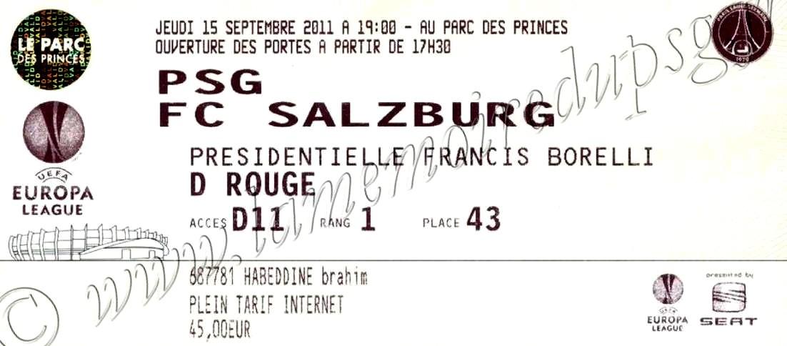 2011-09-15  PSG-FC Salzburg (1ère journée Poule C3)bis