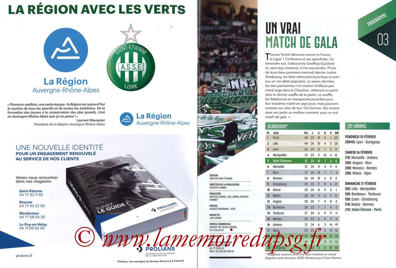 2019-02-17  Saint Etienne-PSG (25ème L1, Maillot Vert N° 13) - Pages 02 et 03