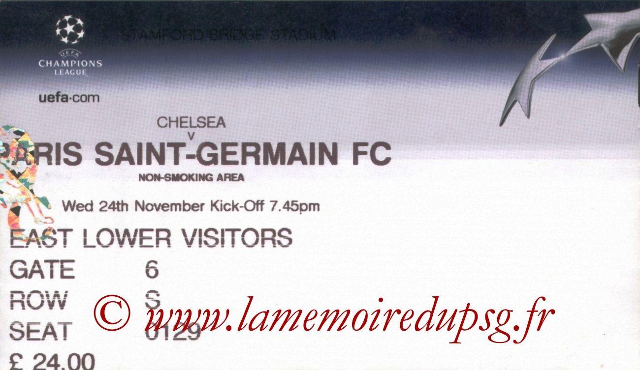 2004-11-24  Chelsea-PSG (5ème Journée Poule C1)