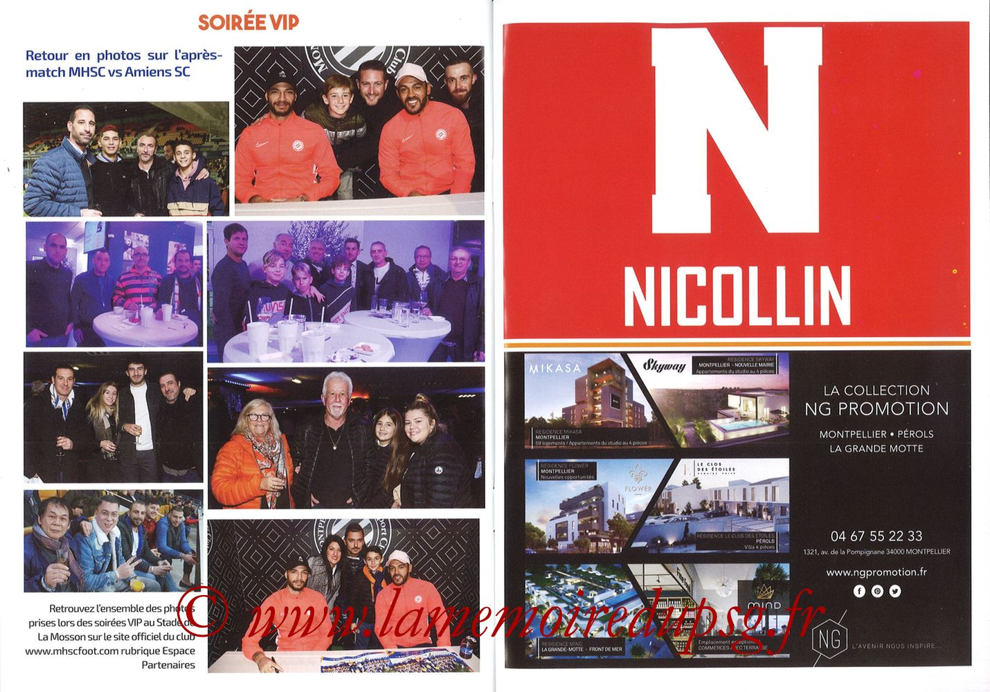2019-12-07  Montpellier-PSG (17ème L1, L'Echo de la Mosson N°9) - Pages 30 et 31