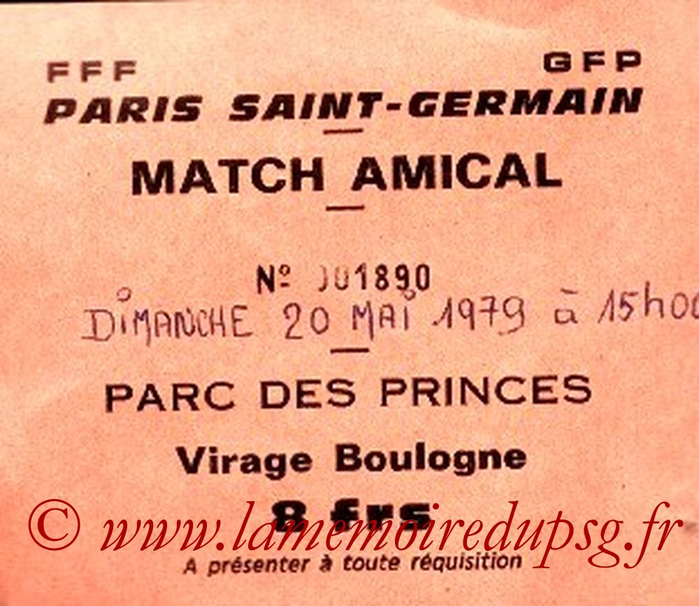 1979-05-20  PSG-Antillais de France (Amical au Parc des Princes)