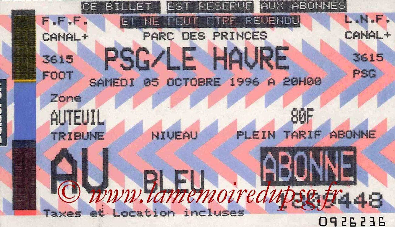 1996-10-05  PSG-Le Havre (11ème D1)