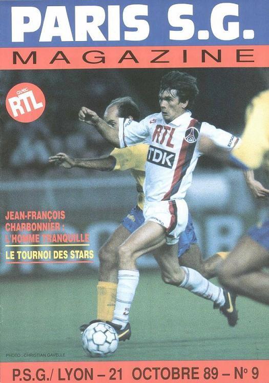 1989-10-21  PSG-Lyon (15ème D1, Paris SG Magazine N°9)