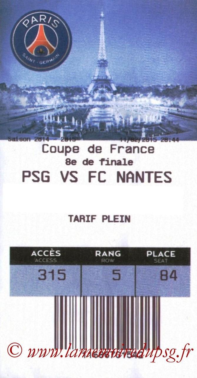2015-02-11  PSG-Nantes (8ème CF, E-ticket bis)