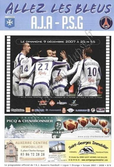 2007-12-09  Auxerre-PSG (17ème L1, Allez les Bleus N°9)