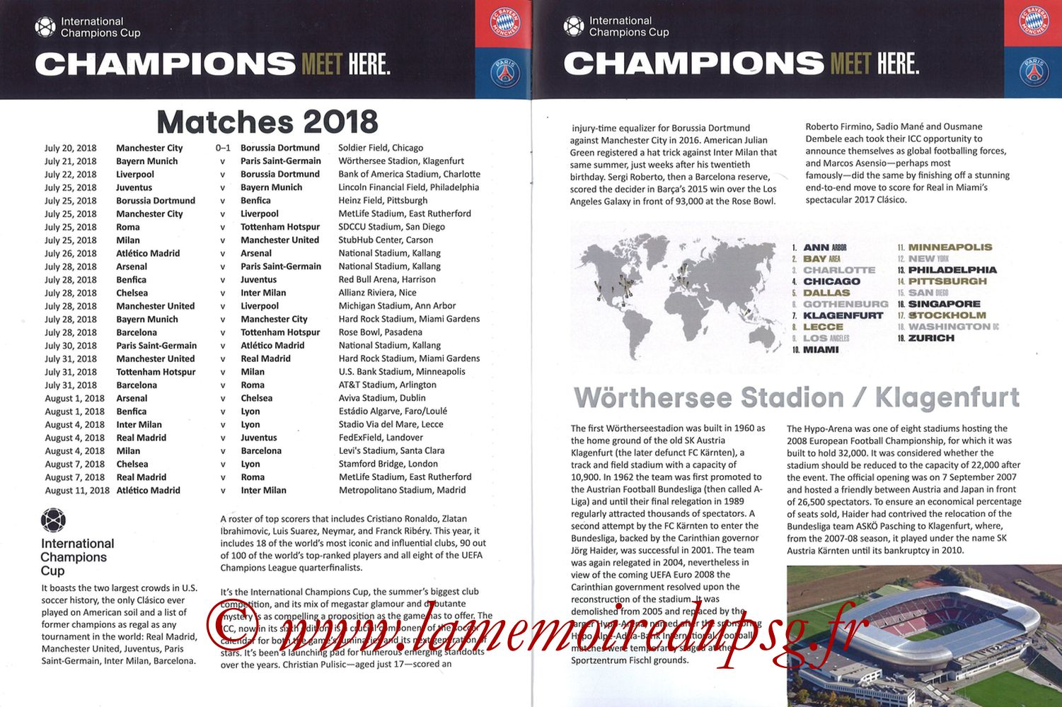 2018-07-21  Bayern Munich-PSG (International Champions Cup à Klagenfurt, Programme pirate) - Pages 02 et 03