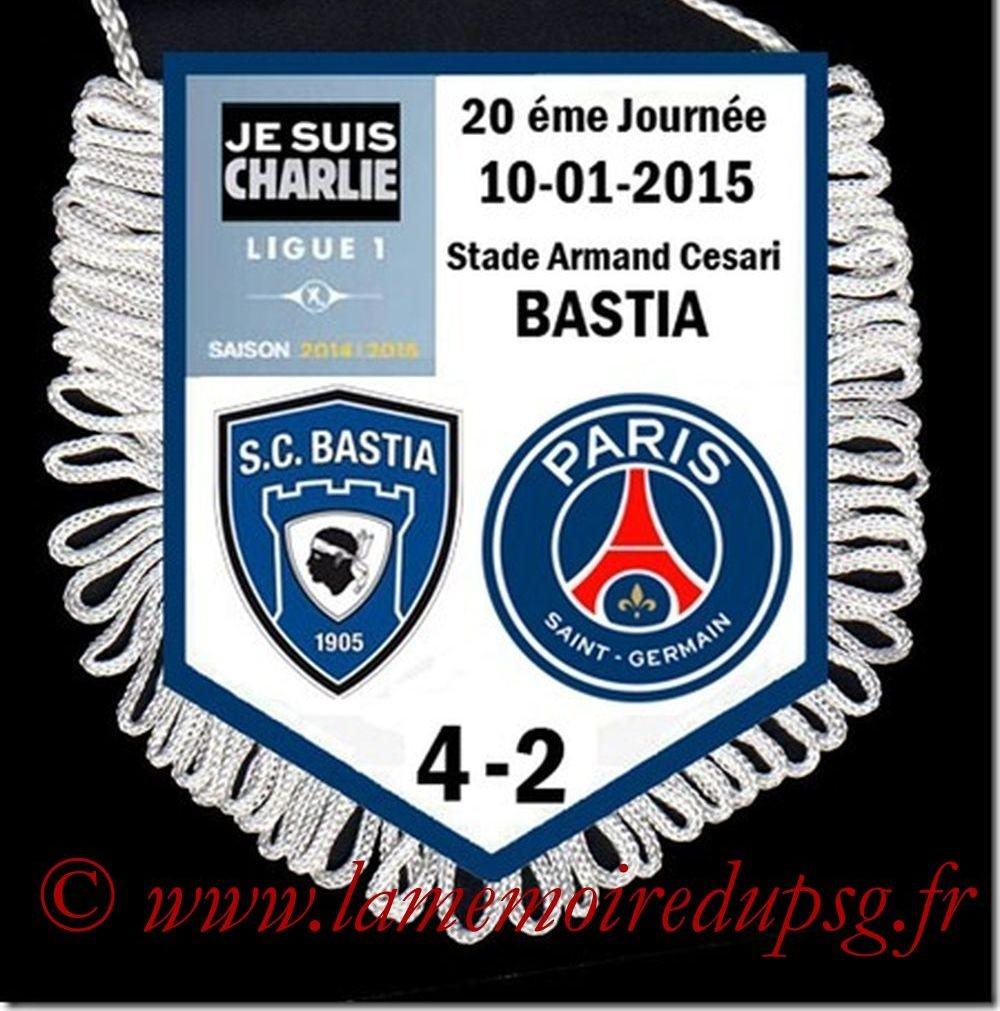 2015-01-10  Bastia-PSG (20ème L1)