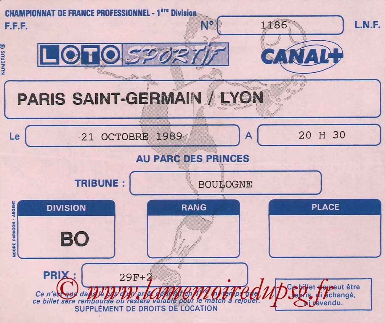 1989-10-21  PSG-Lyon (15ème D1)