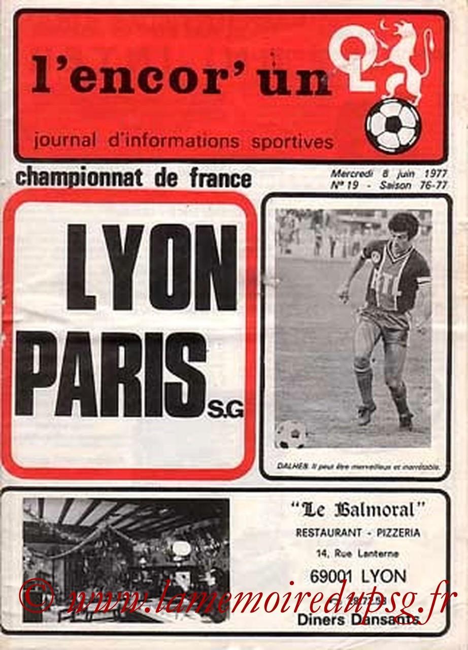 1977-06-08  Lyon-PSG (38ème D1, L'encore un OL N°19)