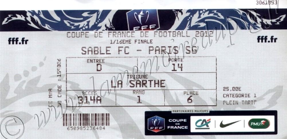 2012-01-20  Sablé-sur-Sarthe-PSG (16ème Finale CF au Mans)