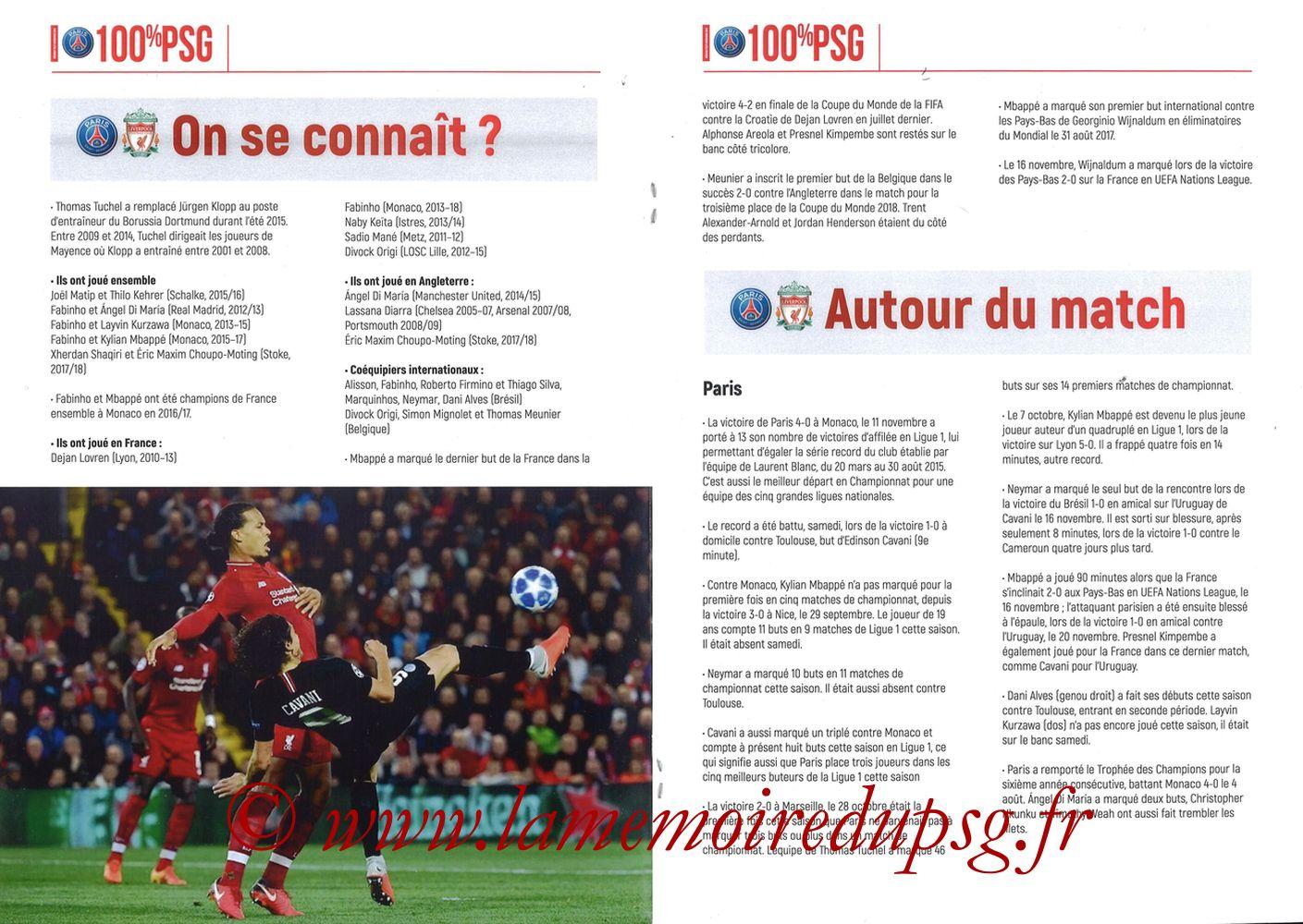 2018-11-28  PSG-Liverpool (5ème Poule C1, 100% PSG N° 172) - Pages 06 et 07