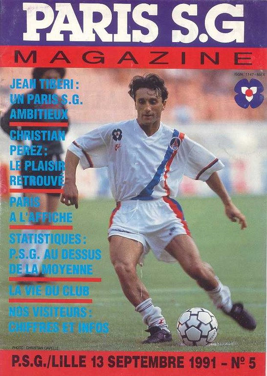1991-09-13  PSG-Lille (10ème D1, Paris SG Magazine N°5)