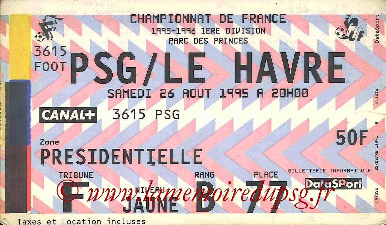 1995-08-26  PSG-Le Havre (6ème D1)bis