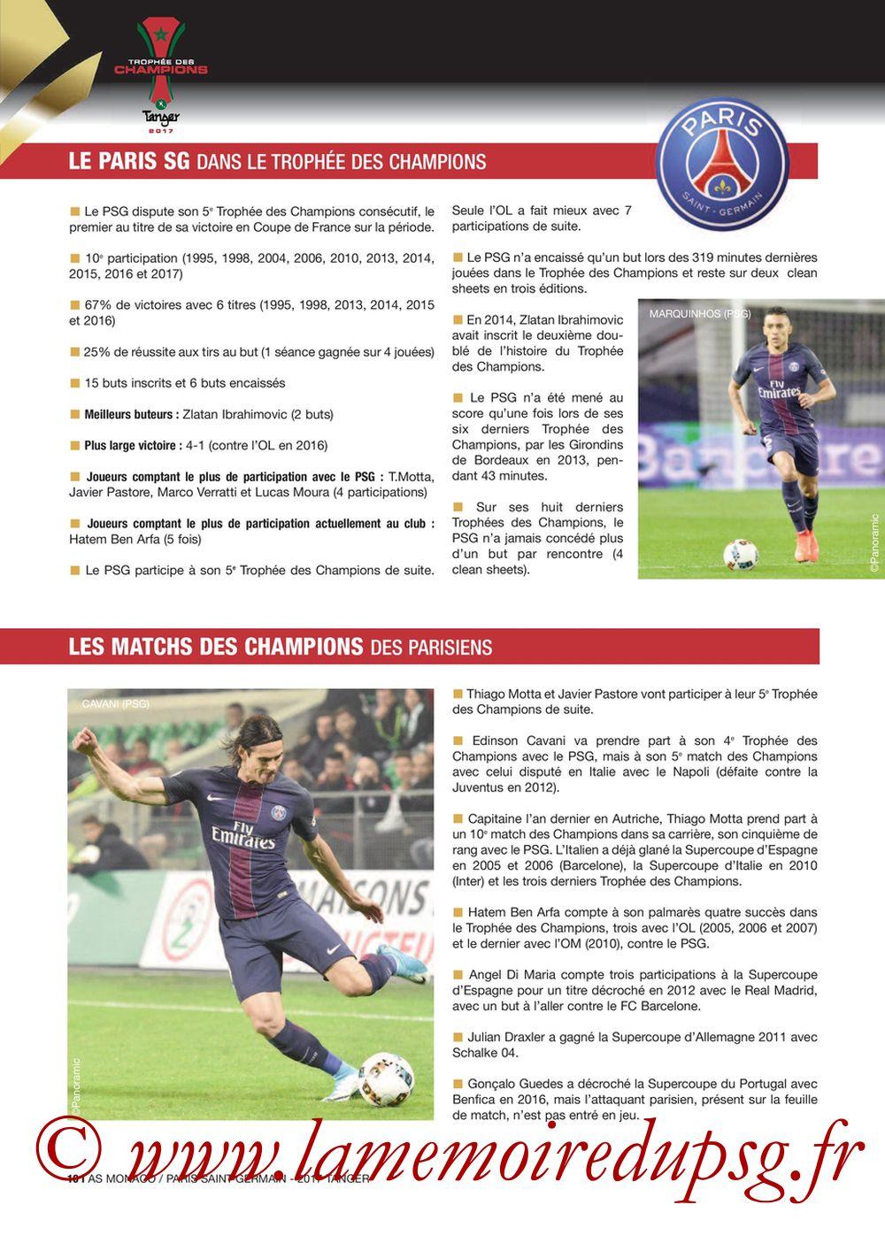 2017-07-29  Monaco-PSG (Trophée des Champions à Tanger, Dossier de Presse) - Page 10